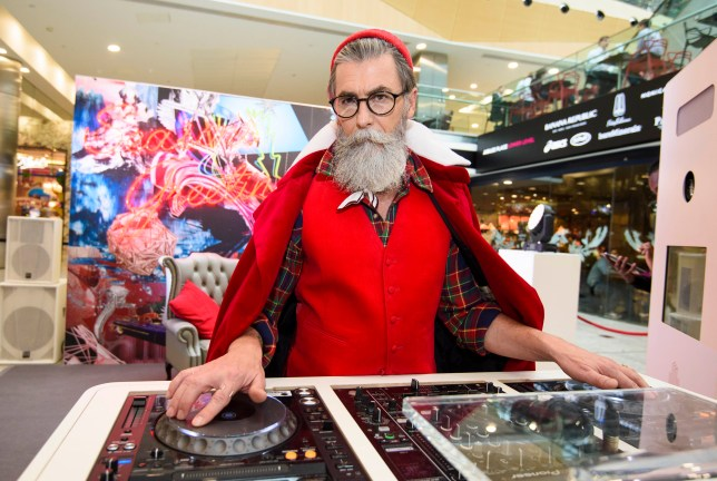 EDITORIAL USE ONLY French model Philippe Dumas is unveiled as ÔHip NicÕ, Canary WharfÕs modern take on the traditional St. Nicholas as part of their festive pop-up in Jubilee Place at Canary Wharf, London. PRESS ASSOCIATION Photo. Picture date: Tuesday November 15, 2016. The pop-up features a live DJ set from Miss Mavrik and free Bucks Fizz for shoppers, as research compiled by Canary Wharf Group reveals that seven in ten Londoners donÕt get as excited about Christmas as they used to and will start thinking about their Christmas shopping on the 16th November. Photo credit should read: Matt Crossick/PA Wire