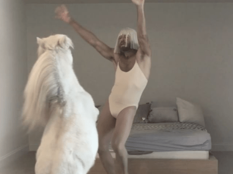 This guy and his pony performed a dance to Sia and we have so many questions