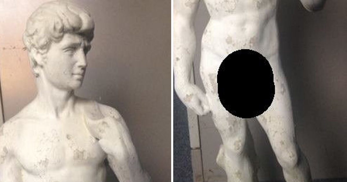 Michaelangelo's David is a bit too much for prudish police