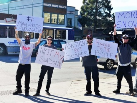 Guys take to the streets in campaign to #MakeColoradoSnowAgain