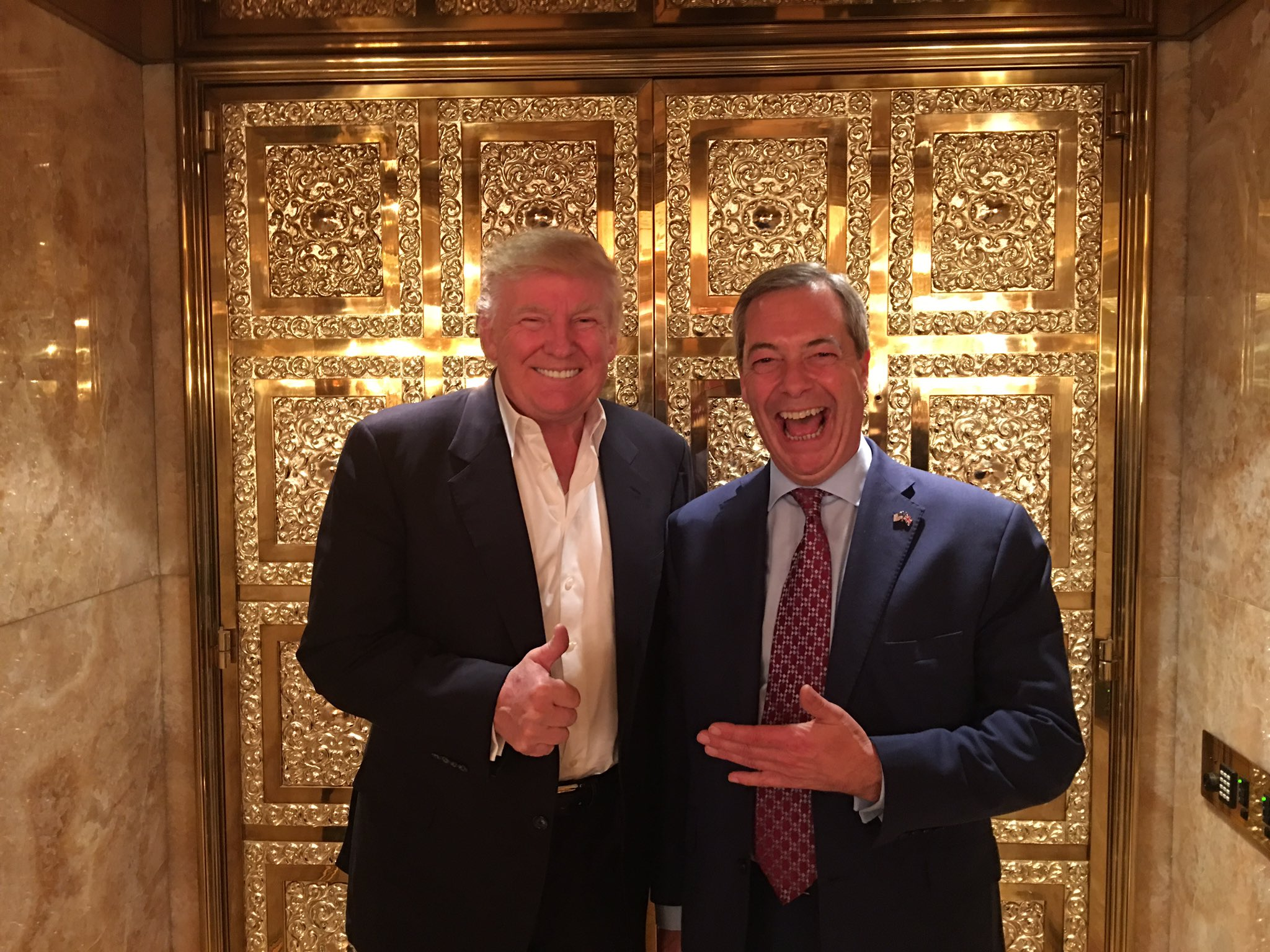 Nigel Farage is the first British politician to meet Trump since the election