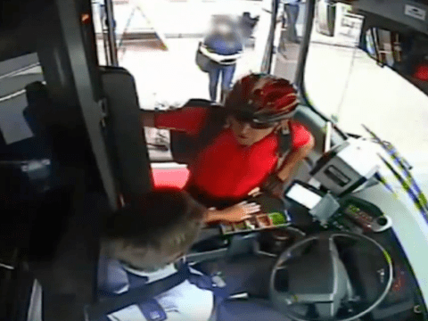 Cyclist punches bus driver in face in 'road rage attack'