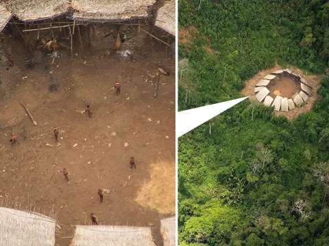Remarkable images show long lost tribe living in South American jungle