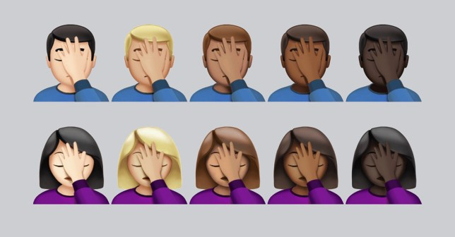 Who doesn't want to face palm (Picture: emojipedia)