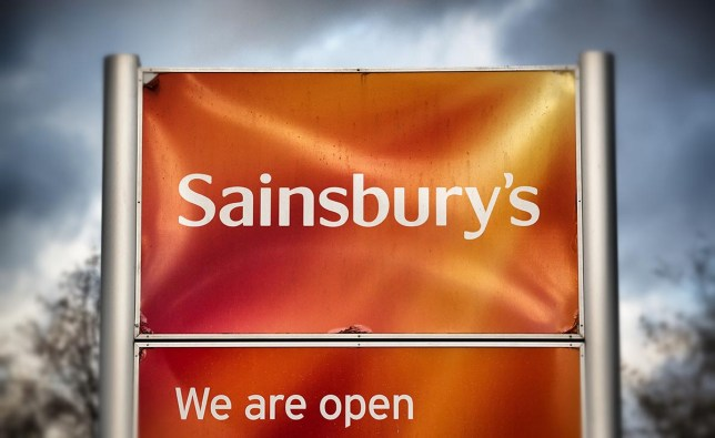 BRISTOL, ENGLAND - NOVEMBER 18: (EDITORS NOTE: This image was created using digital filters) The Sainsbury's sign is displayed outside a branch of the supermarket on November 18, 2015 in Bristol, England. As the crucial Christmas retail period approaches, all the major supermarkets are becoming increasingly competitive to retain and increase their share of the market. (Photo by Matt Cardy/Getty Images)