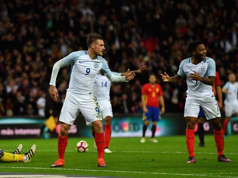 Jamie Vardy celebrates England goal with nod to the mannequin challenge