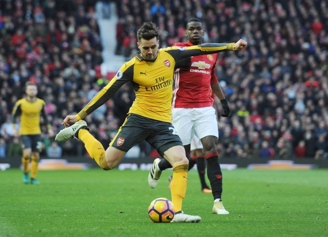 MANCHESTER, ENGLAND - NOVEMBER 19: Carl Jenkinson of Arsenal during the Premier League match between Manchester United and Arsenal at Old Trafford on November 19, 2016 in Manchester, England. (Photo by Stuart MacFarlane/Arsenal FC via Getty Images)