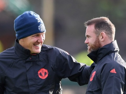 Former Arsenal star Podolski celebrates Schweinsteiger's Manchester United return
