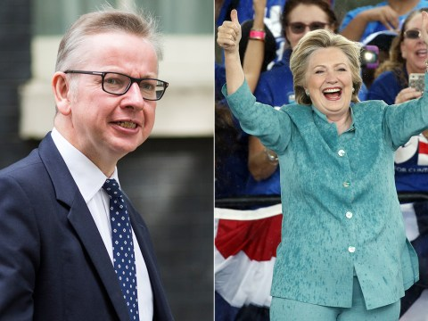 Michael Gove turned up at a Hillary Clinton rally and everyone's a bit confused