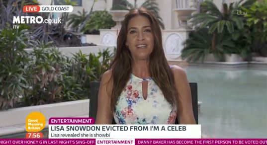 Lisa Snowdon was quizzed about shaving her legs on Good Morning Britain (Picture: ITV)