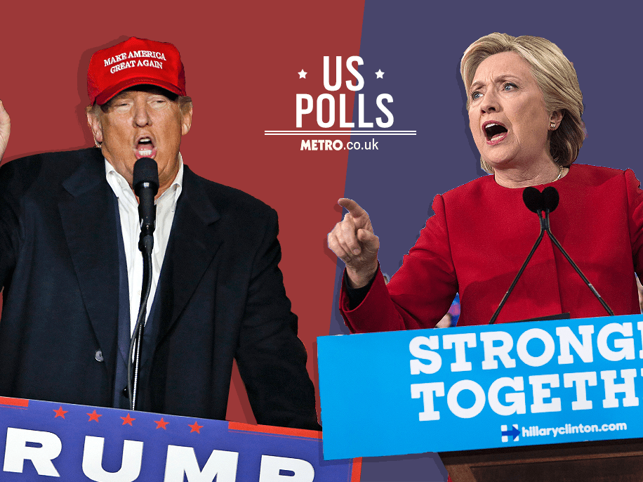 Hillary Clinton leads in national polls as Americans cast their votes