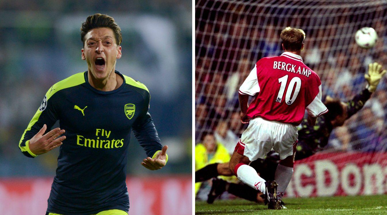 Mesut Ozil v Ludogorets or Dennis Bergkamp v Leicester – which classic Arsenal goal was better?