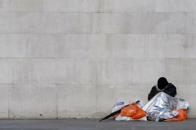 Some 3,000 people sleep rough on any given night in the UK (Picture: Reuters)