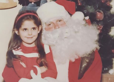 Can you guess who this 90s star visiting Santa's Grotto as a kid is?