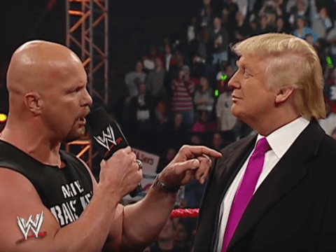 Watching Donald Trump get a Stunner from Stone Cold Steve Austin will brighten up your day