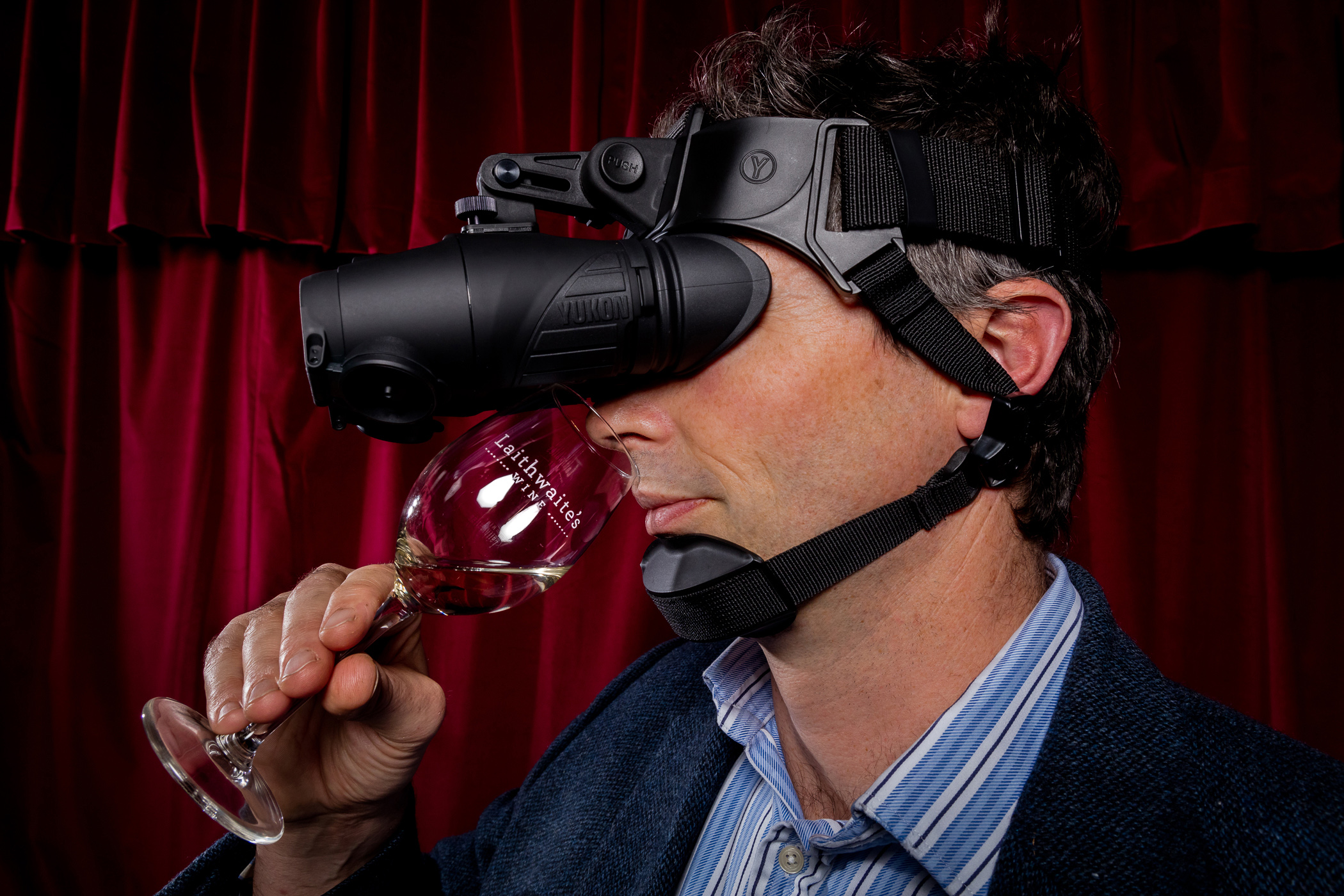 You can now taste test wine in pitch black