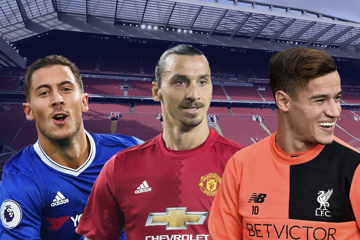 Premier League team of the week: Eden Hazard, Philippe Coutinho, and Zlatan Ibrahimovic all feature