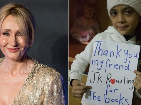 JK Rowling sends Harry Potter books to girl in Syrian warzone