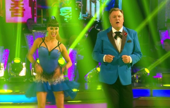 Ed Balls and Katya Jones performed an epic salsa set to Psy's Gangnam Style (Picture: BBC)