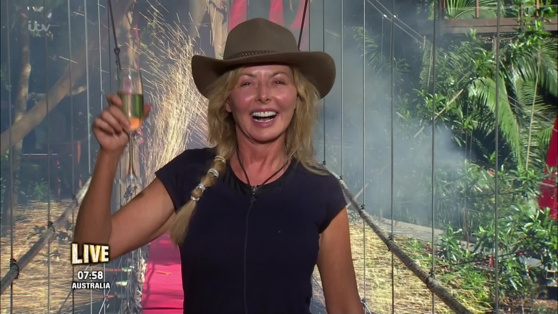Carol Vorderman has been voted out of I'm A Celebrity (Picture: ITV)