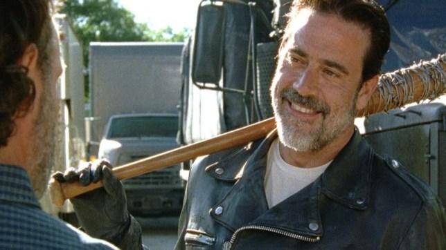Jeffrey Dean Morgan stole the show as Negan in Service (Picture: AMC/Fox)