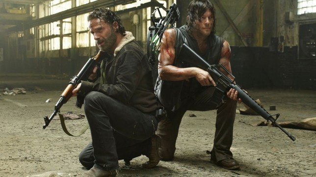 A fan theory suggests Rick and Daryl could be communicating via morse code (Picture: Fox)