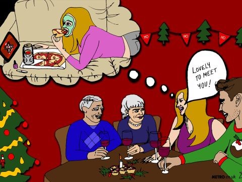 The new girlfriend's guide to the first Christmas with his family