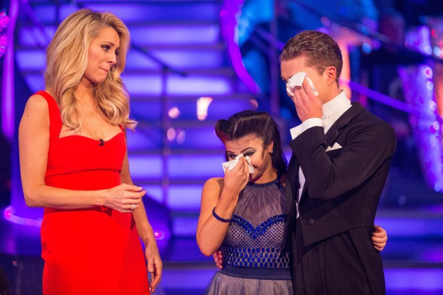 WARNING: Embargoed for publication until 20:00:00 on 11/12/2016 - Programme Name: Strictly Come Dancing 2016 - TX: 11/12/2016 - Episode: n/a (No. n/a) - Picture Shows: **RESULTS SHOW - STRICTLY EMBARGOED UNTIL 20:00 HRS ON SUNDAY 11TH DECEMBER 2016** Tess Daly, Claudia Fragapane, AJ Pritchard - (C) BBC - Photographer: Guy Levy