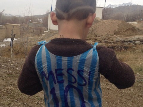 The Afghan boy who wore a plastic bag Lionel Messi jersey meets his hero