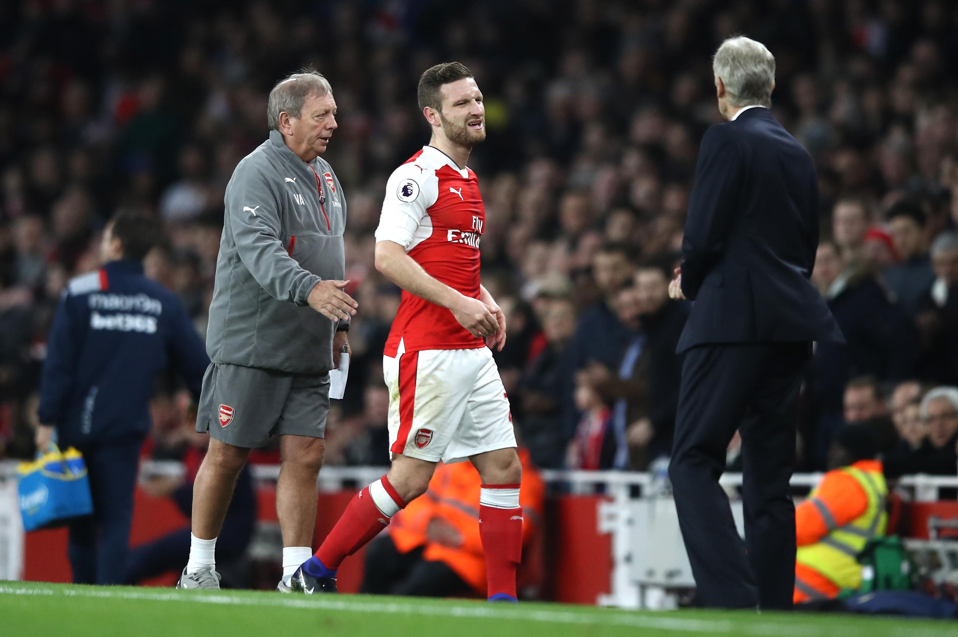 Arsenal boss Arsene Wenger confirms Shkodran Mustafi injury blow