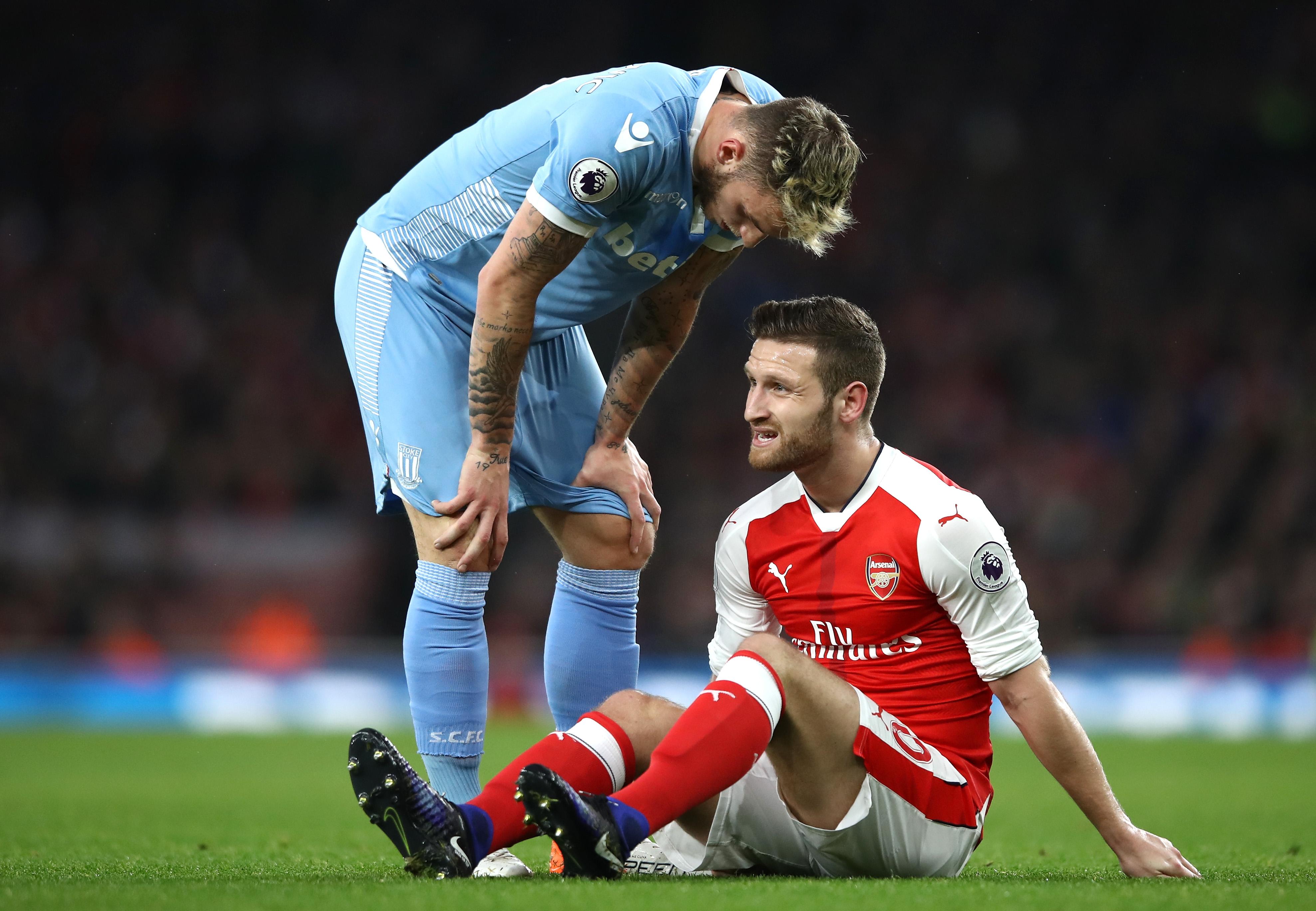 Arsenal star Shkodran Mustafi bemoans 'extremely bitter' timing of injury