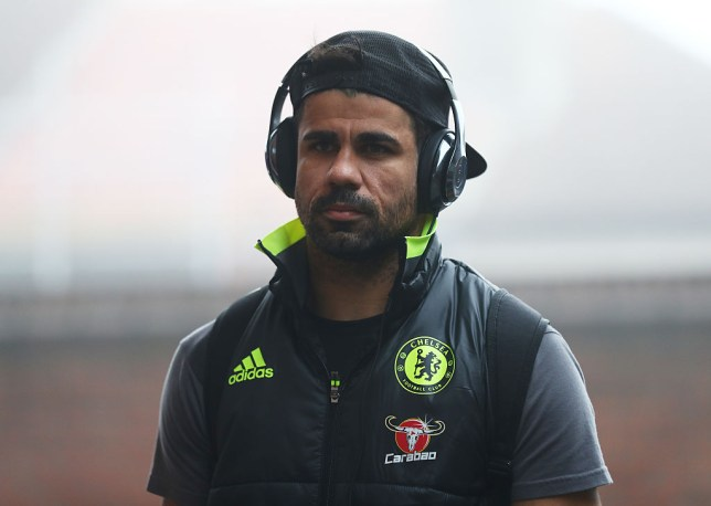 LONDON, ENGLAND - DECEMBER 17: Diego Costa of Chelsea arrives at the stadiium prior to the Premier League match between Crystal Palace and Chelsea at Selhurst Park on December 17, 2016 in London, England. (Photo by Clive Rose/Getty Images)