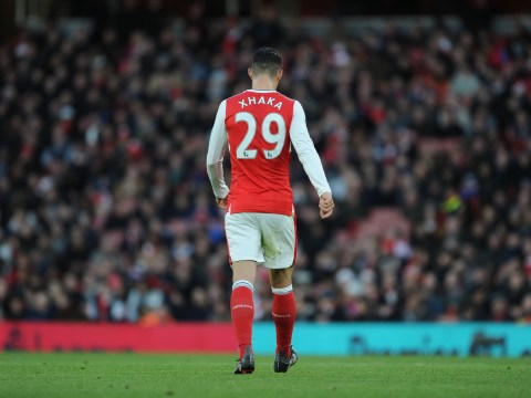 Granit Xhaka wasn't meeting Arsene Wenger's standards when he first joined Arsenal