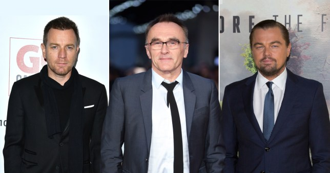 Danny Boyle (C) regrets his long feud with Ewan McGregor (L) sparked by casting Leonardo DiCaprio (R) in The Beach (Picture: Getty Images)
