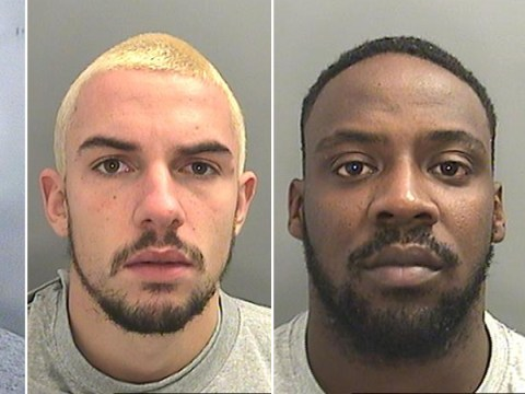 Murderers laugh as they're jailed for life for killing man in broad daylight