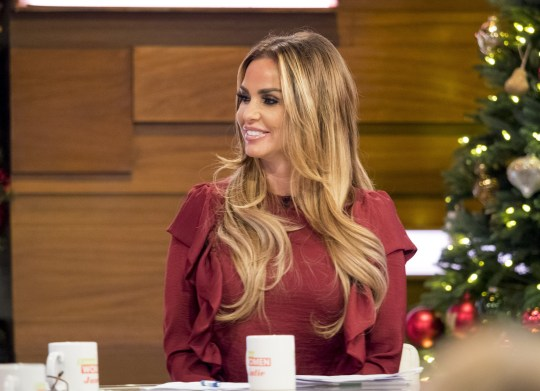 EDITORIAL USE ONLY. NO MERCHANDISING Mandatory Credit: Photo by S Meddle/ITV/REX/Shutterstock (7548813d) Katie Price returns to Loose Women after taking a break 'Loose Women' TV show, London, UK - 06 Dec 2016