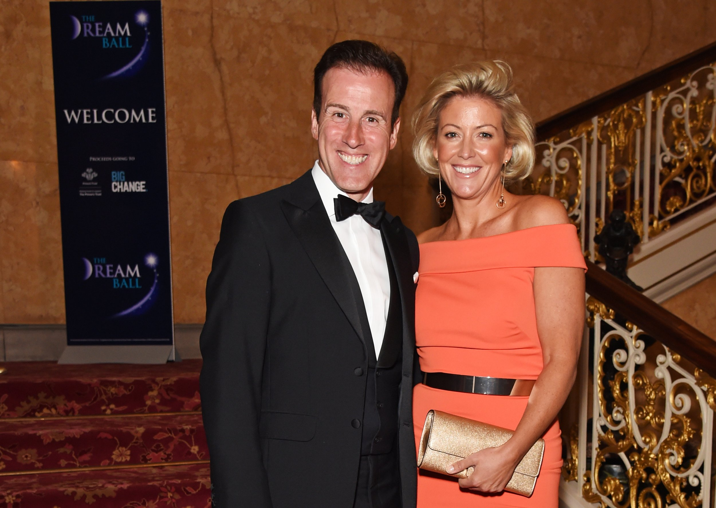 LONDON, ENGLAND - JULY 07: Anton du Beke (L) and Hannah Summers attend The Dream Ball in aid of The Prince's Trust and Big Change at Lancaster House on July 7, 2016 in London, United Kingdom. (Photo by David M. Benett/Dave Benett/Getty Images for Annesley Abercorn - The Dream Ball)