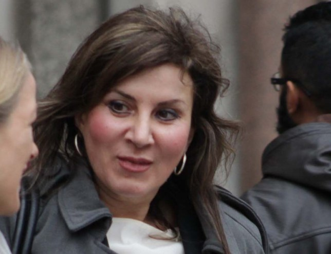 PICTURE OF DR HELENA ANTONIADOU - MEDIC IN LITIGATION OVER BREAST SURGERY. PICTURE TAKEN OUTSIDE ROYAL COURTS OF JUSTICE.