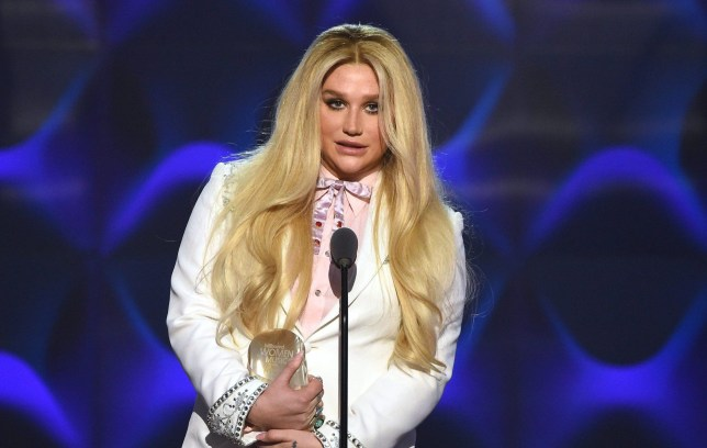 NEW YORK, NY - DECEMBER 09: Kesha presents on stage at the Billboard Women in Music 2016 event on December 9, 2016 in New York City. (Photo by Nicholas Hunt/Getty Images for Billboard Magazine)