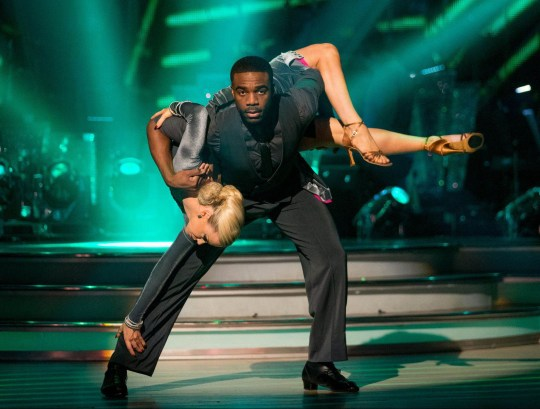 EMBARGOED TO 2010 SATURDAY DECEMBER 10 For use in UK, Ireland or Benelux countries only Undated BBC handout photo of Joanne Clifton and Ore Oduba during the dress rehearsal for the live semi-final of the BBC1 show, Strictly Come Dancing. PRESS ASSOCIATION Photo. Picture date: Saturday December 10, 2016. See PA story SHOWBIZ Strictly. Photo credit should read: Guy Levy/PA Wire NOTE TO EDITORS: Not for use more than 21 days after issue. You may use this picture without charge only for the purpose of publicising or reporting on current BBC programming, personnel or other BBC output or activity within 21 days of issue. Any use after that time MUST be cleared through BBC Picture Publicity. Please credit the image to the BBC and any named photographer or independent programme maker, as described in the caption.