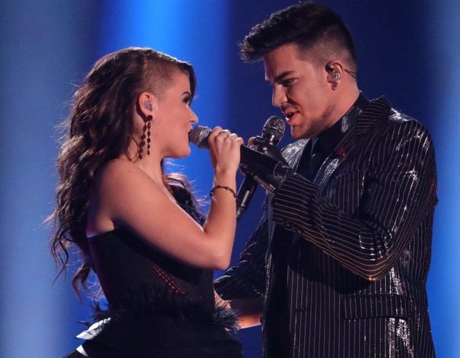 *** MANDATORY BYLINE TO READ: Syco / Thames / Dymond ***<BR /> Saara Aalto, Adam Lambert. The X Factor Live Finals - 10 December 2016 <P> Pictured: Saara Aalto, Adam Lambert <B>Ref: SPL1408527 101216 </B><BR /> Picture by: Syco / Thames / Dymond<BR /> </P><P>