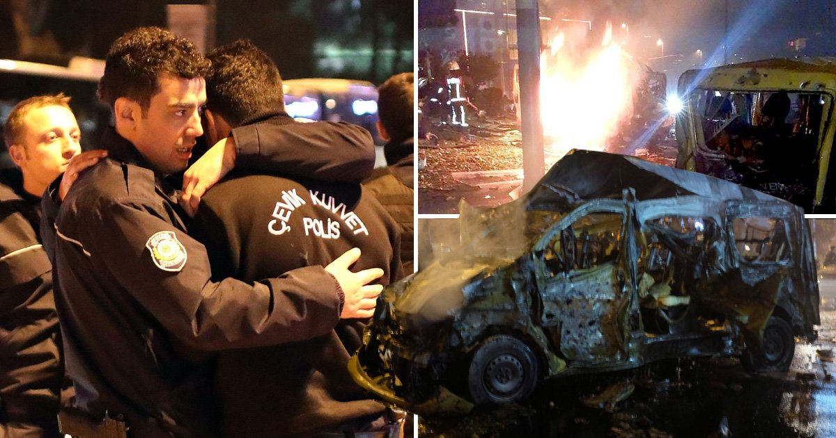 Turkey declares state of mourning after twin blasts kill 38