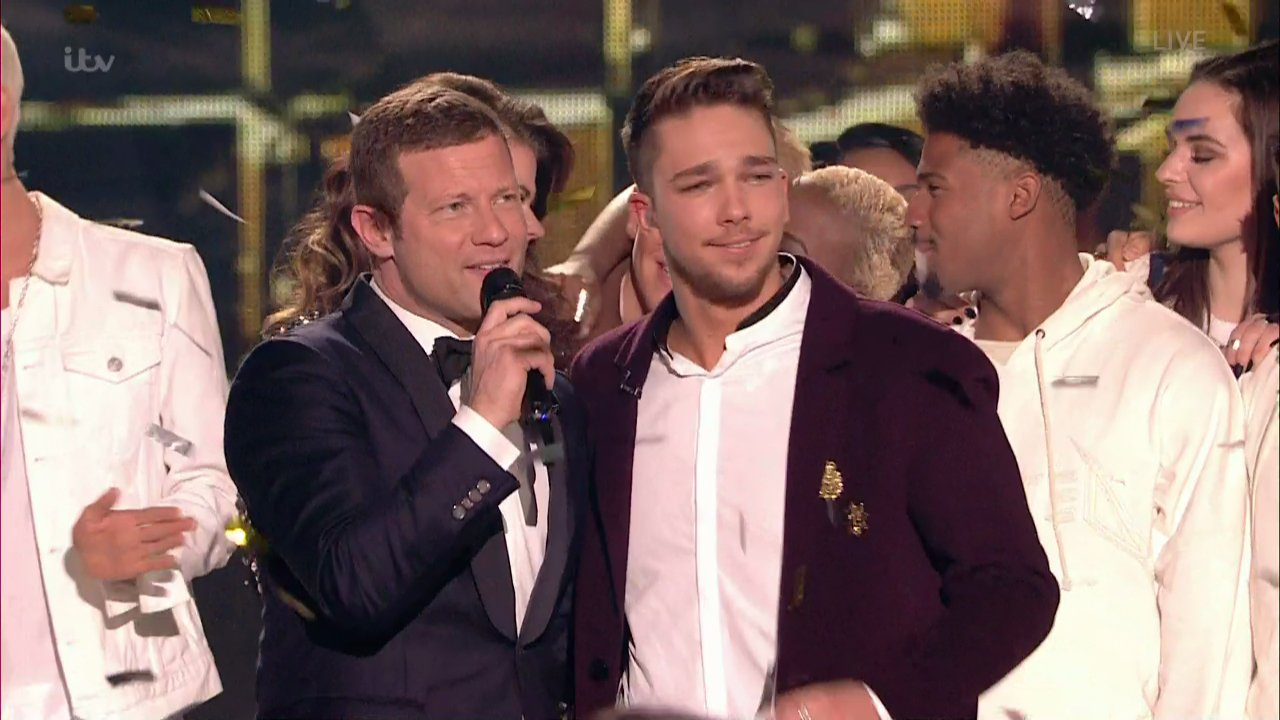 Matt Terry is crowned winner of The X Factor . Broadcast on ITV1HD Featuring: Matt Terry, Dermot O'Leary When: 11 Dec 2016 Credit: Supplied by WENN **WENN does not claim any ownership including but not limited to Copyright, License in attached material. Fees charged by WENN are for WENN's services only, do not, nor are they intended to, convey to the user any ownership of Copyright, License in material. By publishing this material you expressly agree to indemnify, to hold WENN, its directors, shareholders, employees harmless from any loss, claims, damages, demands, expenses (including legal fees), any causes of action, allegation against WENN arising out of, connected in any way with publication of the material.**