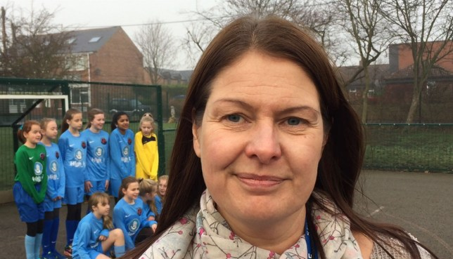 Carol Hughes, deputy head of Lumley Junior School near Chester-Le-Street, where pupils have written to the FA complaining about a document to get more girls into playing football. PRESS ASSOCIATION Photo. Picture date: Monday December 12, 2016. Among the suggestions is using bibs that smell nice, allowing girls Twitter breaks and playing music during sessions. See PA story SPORT Girls. Photo credit should read: Tom Wilkinson/PA Wire
