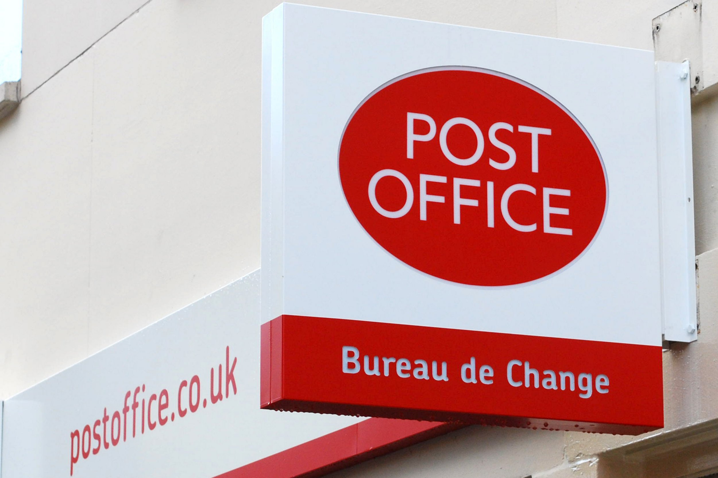 File photo dated 03/11/09 of a Post Office sign, as a strike by Post Office workers is to go ahead next week after their union said an offer it made to resolve a row over jobs, pensions and closures was rejected. PRESS ASSOCIATION Photo. Issue date: Thursday December 15, 2016. Members of the Communication Workers Union (CWU) will walk out next week, including on Christmas Eve, after the Post Office was accused of rejecting a peace plan. See PA story INDUSTRY Post. Photo credit should read: Lewis Stickley/PA Wire