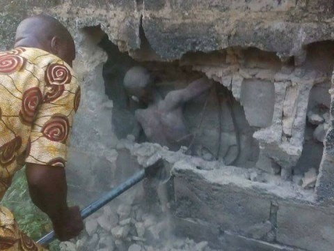 Boy trapped in a wall for three days while people ignored him crying