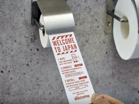 Japan unveils 'toilet paper' for smartphones