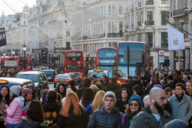 Oxford Street Sales Featuring: Atmosphere, View Where: London, United Kingdom When: 26 Dec 2016 Credit: Wheatley/WENN