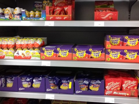 Easter Eggs for sale just days after Christmas and it's an outrage