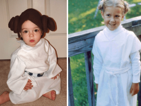 People are posting photos of their babies dressed as Princess Leia in honour of Carrie Fisher